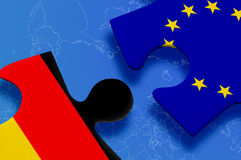 Puzzlespiel-Europäische Gemeinschaft Deutschland Stockbild