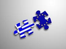 Puzzlespiel-Europäische Gemeinschaft Griechenland Lizenzfreie Stockfotos