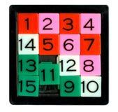 Puzzlespiel fünfzehn stockfotografie