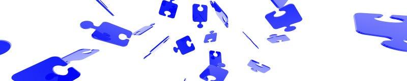 Puzzlespiel-Fahne Lizenzfreie Stockfotografie