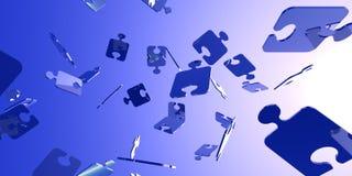 Puzzlespiel-Fahne Stockfotografie