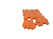 Puzzlespiel fast komplett Stockfoto