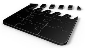 Puzzlespiel-Film-Scharnierventil Stockbilder