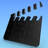 Puzzlespiel-Film-Scharnierventil Lizenzfreie Stockfotografie
