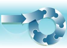 Puzzlespiel-Flussdiagramm Lizenzfreie Stockfotos