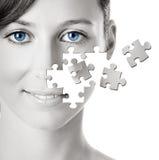 Puzzlespiel-Gesicht Stockfoto