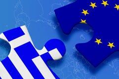 Puzzlespiel Griechenlands Europa Lizenzfreies Stockfoto