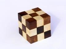 Puzzlespiel - hölzernes Puzzlespiel Stockbild