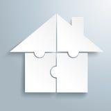 Puzzlespiel-Haus des Weiß-4 Lizenzfreies Stockfoto