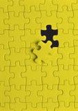 Puzzlespiel im Gelb Lizenzfreies Stockbild
