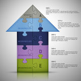 Puzzlespiel Infographics-Schablone Stockbild