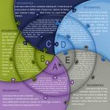Puzzlespiel Infographics-Schablone Lizenzfreies Stockbild
