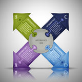 Puzzlespiel Infographics-Schablone Stockbilder
