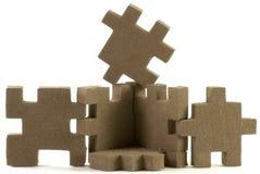 Puzzlespiel-Kasten Lizenzfreie Stockfotos