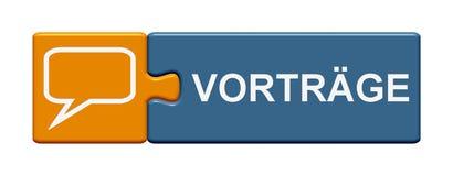 Puzzlespiel-Knopf-Darstellungsdeutscher Stockfotos