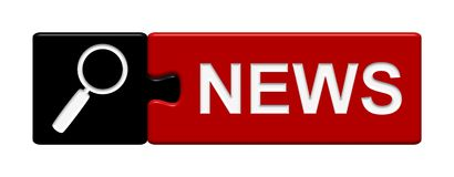 Puzzlespiel-Knopf: Nachrichten Stockfotos