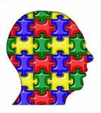 Puzzlespiel-Kopf Stockbilder