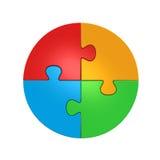 Puzzlespiel-Kreis Stockfoto