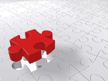 Puzzlespiel-letztes Stück, das unten, zackiges Konzept kommt Stockfotos