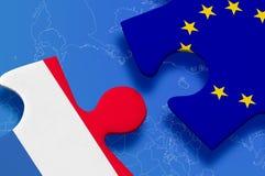 Puzzlespiel Luxemburg-Europäischer Gemeinschaft Lizenzfreie Stockfotografie