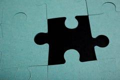 Puzzlespiel - Metapher der Strategie Lizenzfreies Stockfoto