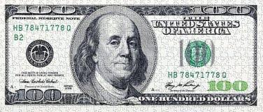 Puzzlespiel mit amerikanischem Geld Lizenzfreies Stockbild