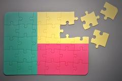 Puzzlespiel mit der Staatsflagge von Benin Stockfotos