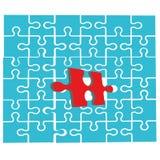 Puzzlespiel mit einem einzigartigen Stück Eins vieler Konzepte Auch im corel abgehobenen Betrag vektor abbildung