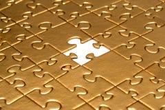 Puzzlespiel mit fehlendem Stück Stockbild