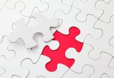 Puzzlespiel mit fehlendem Stück Stockfoto