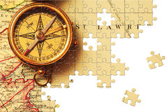 Puzzlespiel mit fehlenden Stücken Stockbilder