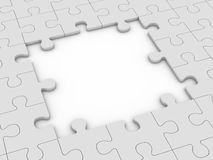 Puzzlespiel mit großem Abstand stock abbildung