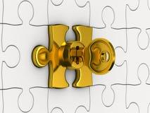 Puzzlespiel mit Taste Lizenzfreie Stockfotos