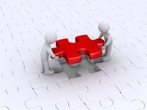Puzzlespiel mit zwei Personen End Stockfoto