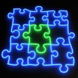 Puzzlespiel-Neon Lizenzfreies Stockbild
