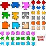 Puzzlespiel-Rand-Stücke Lizenzfreies Stockfoto