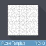 Puzzlespiel-Schablone 13x13 Stockbild