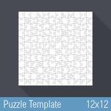 Puzzlespiel-Schablone 12x12 Stockbilder