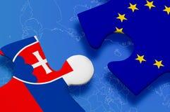 Puzzlespiel Slowakei-Europäischer Gemeinschaft Lizenzfreies Stockfoto