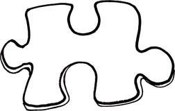 Puzzlespiel-Stück Stockfotografie
