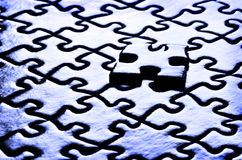 Puzzlespiel-Stücke Stockfoto