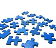 Puzzlespiel-Stücke Lizenzfreie Stockfotografie