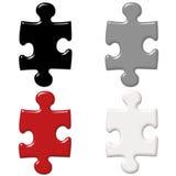 Puzzlespiel-Stücke Stockfotos