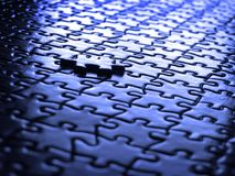 Puzzlespiel-Stücke abgeschlossen Lizenzfreies Stockfoto