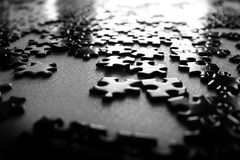 Puzzlespiel-Stücke abgeschlossen Lizenzfreie Stockfotografie