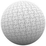 Puzzlespiel-Stück-Bereich-Ball gepaßte zusammen Friedensharmonie Stockfotos