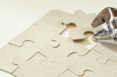 Puzzlespiel und ein apanner Stockfotos