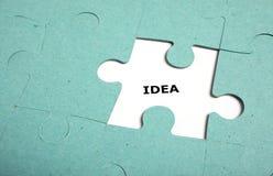 Puzzlespiel unvollständig - Idee Lizenzfreie Stockfotografie