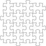 Puzzlespiel Vektorillustration des weißen Puzzlespiels Stockfotografie