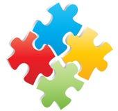 Puzzlespiel vier Stockfoto